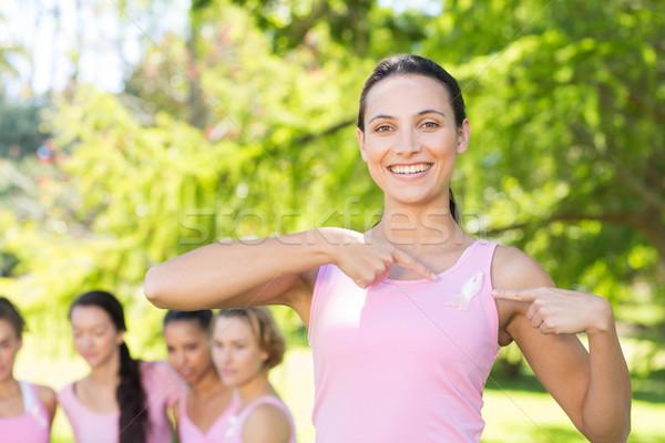 笑みを浮かべて 女性 ピンク 乳癌 認知度 ストックフォト © wavebreak_media