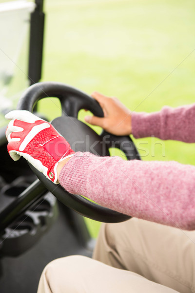 Golfer driving his golf buggy forward Stock photo © wavebreak_media