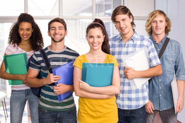 Studenti cartelle college ritratto felice Foto d'archivio © wavebreak_media