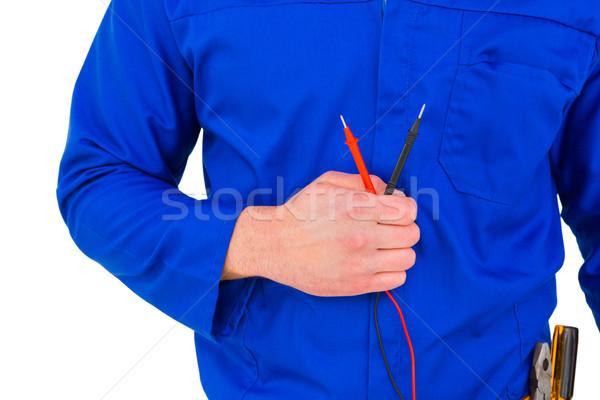 Electrician holding multimeter Stock photo © wavebreak_media
