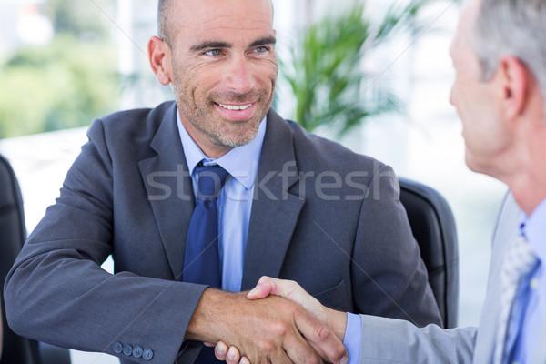 Zakenman collega kantoor man zakenlieden arm Stockfoto © wavebreak_media