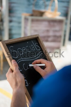 Mid section of a technician typing on his notebook Stock photo © wavebreak_media