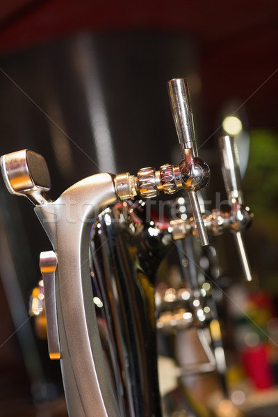 Beer pumps in a row Stock photo © wavebreak_media
