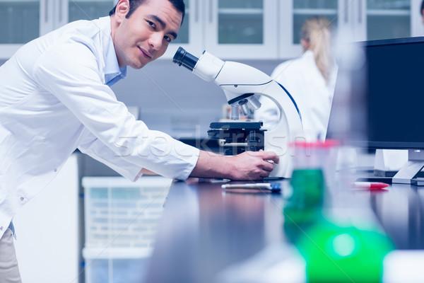 науки студент рабочих микроскоп лаборатория университета Сток-фото © wavebreak_media
