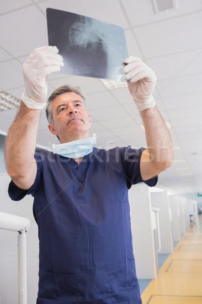 Ciddi dişçi xray diş klinik Stok fotoğraf © wavebreak_media
