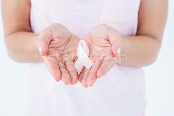 женщину Рак молочной железы осведомленность белый Сток-фото © wavebreak_media