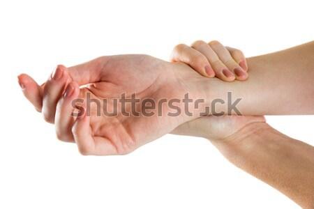 Mulher mão ferimento branco feminino caucasiano Foto stock © wavebreak_media