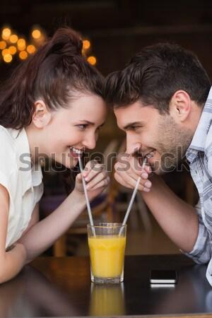 Composite image of cute couple on a date Stock photo © wavebreak_media