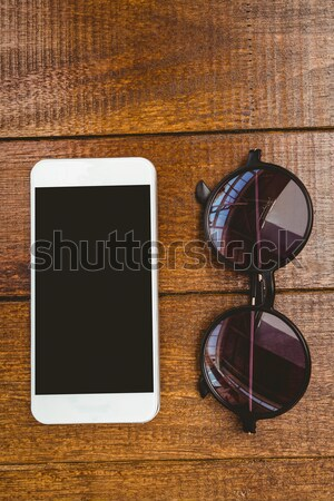 Imagem música aplicativo ver óculos Foto stock © wavebreak_media