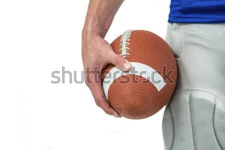 Rögbi játékos rögbilabda fehér sport férfi Stock fotó © wavebreak_media