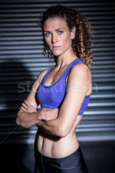 Portret ernstig gespierd vrouw naar camera Stockfoto © wavebreak_media