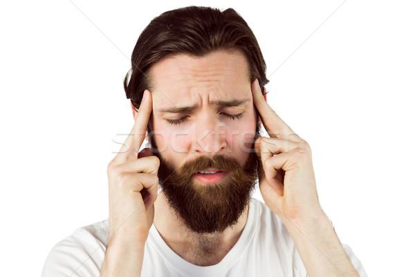 Yakışıklı baş ağrısı beyaz sağlık kafa Stok fotoğraf © wavebreak_media