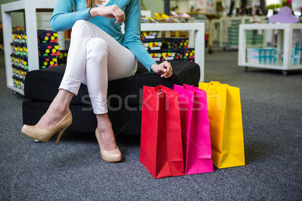 Woman holding many shopping bags Stock photo © wavebreak_media