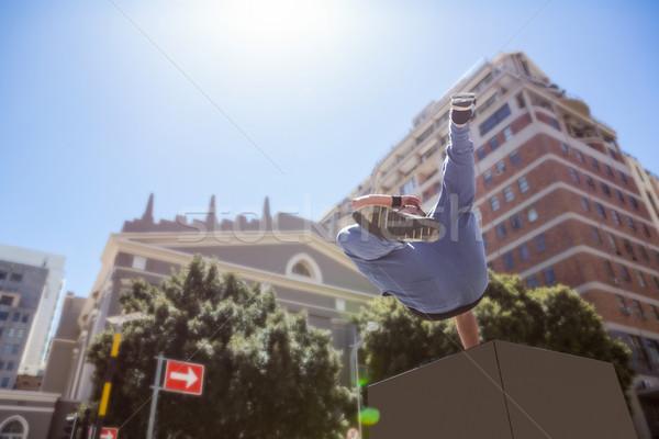 男 市 建物 スポーツ を実行して ストックフォト © wavebreak_media