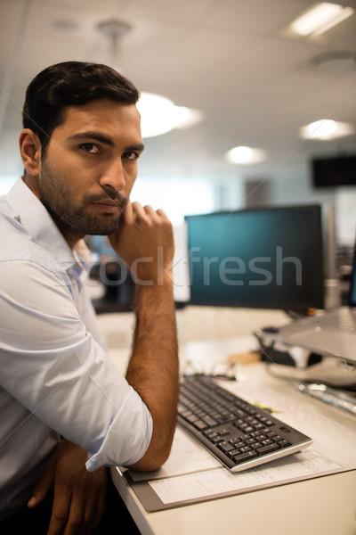Ernstig business uitvoerende vergadering kantoor portret Stockfoto © wavebreak_media