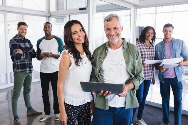 портрет улыбаясь деловые люди Boardroom Постоянный Сток-фото © wavebreak_media