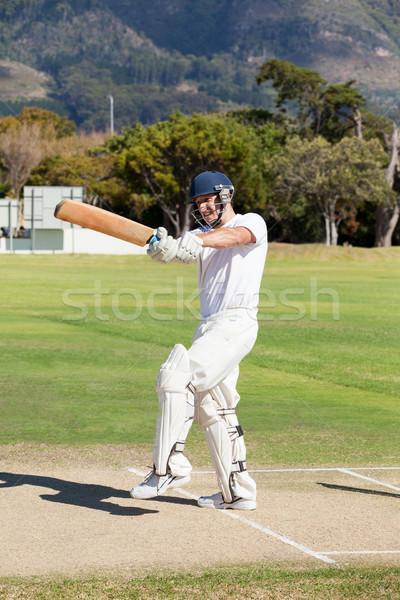Batsman playing cricket at field Stock photo © wavebreak_media