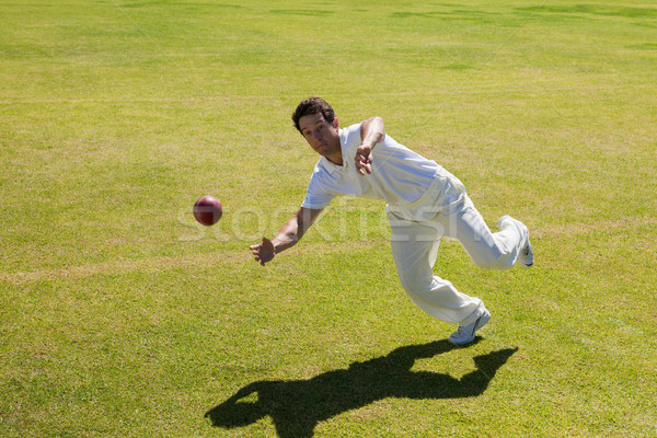 Full length of player catching ball on field Stock photo © wavebreak_media
