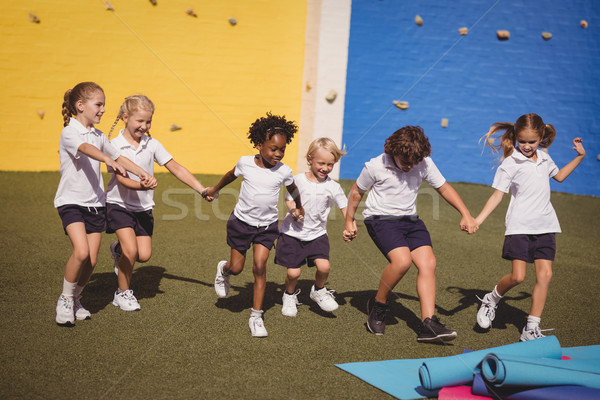 Uczennice uruchomiony strony dziewczyna szkoły dziecko Zdjęcia stock © wavebreak_media