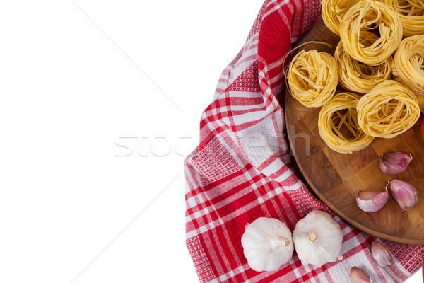 Sarımsak soğan peçete bez beyaz Stok fotoğraf © wavebreak_media