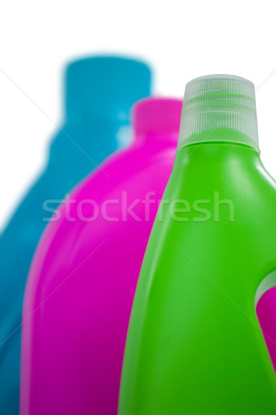 Detergent containers arranged on white background Stock photo © wavebreak_media