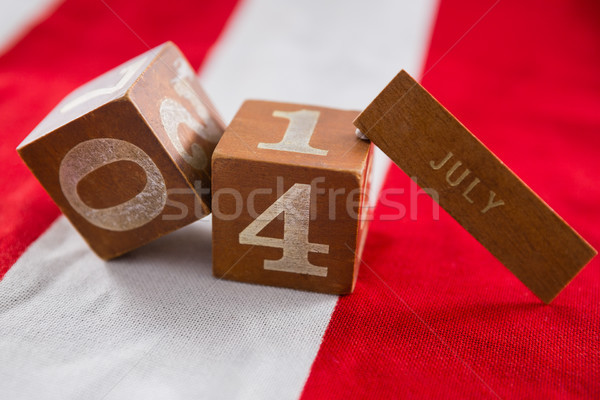 Datum blokken Amerikaanse vlag achtergrond Stockfoto © wavebreak_media