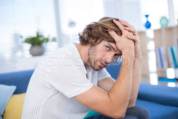Depressiv männlich Executive Sitzung Sofa Büro Stock foto © wavebreak_media