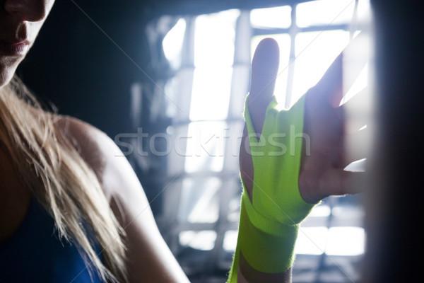 女性 手 フィットネス スタジオ 若者 ストックフォト © wavebreak_media