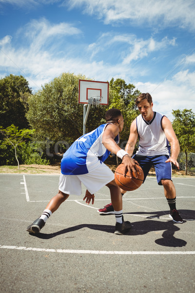 Basketball players practicing in court Stock photo © wavebreak_media