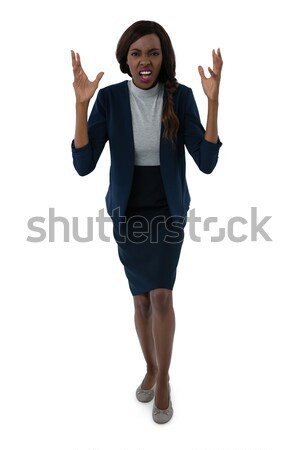 Full length portrait of frustrated businesswoman Stock photo © wavebreak_media