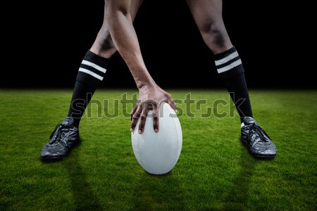Low section of rugby player standing against Argentinian Flag Stock photo © wavebreak_media