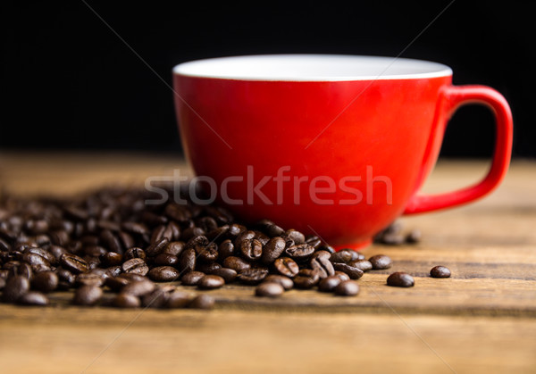 Koffiebonen tabel beker shot studio koffie Stockfoto © wavebreak_media