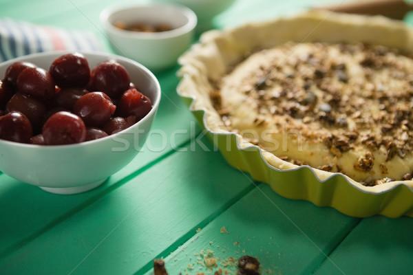 Close up of tart with olives Stock photo © wavebreak_media