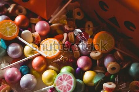 Görmek tatlı gıda turuncu kutu Stok fotoğraf © wavebreak_media