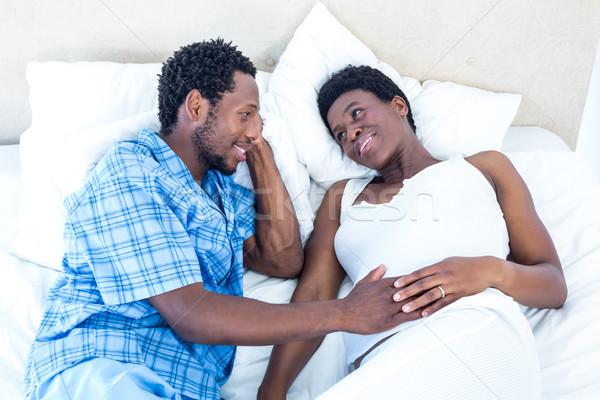 Zdjęcia stock: Widoku · mąż · żona · mówić · relaks