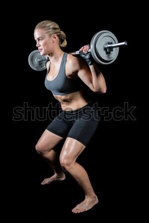 Actief vrouw crossfit zwarte lichaam Stockfoto © wavebreak_media