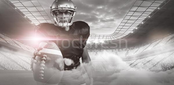 Piłka nożna stadion sportu niebieski Chmura światła Zdjęcia stock © wavebreak_media
