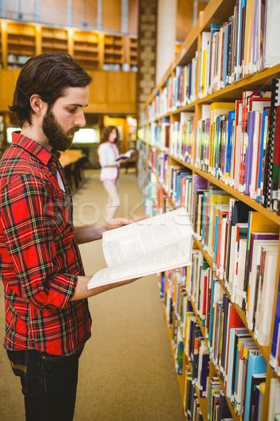 Сток-фото: студент · книга · библиотека · университета