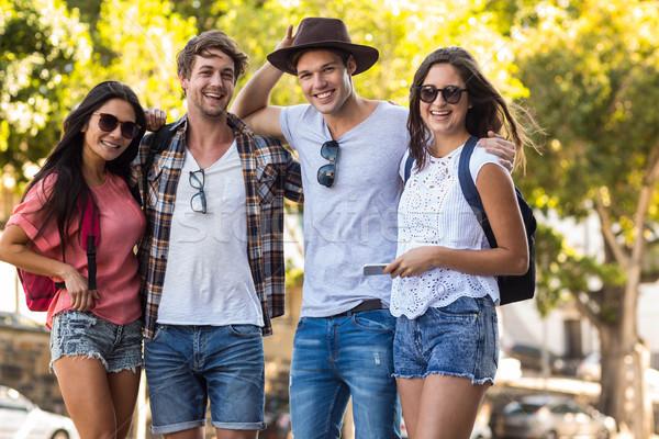 Hip friends posing for camera Stock photo © wavebreak_media