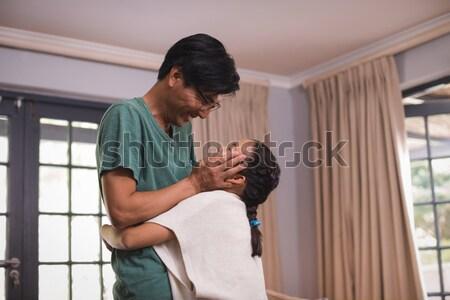 Uomo donna incinta camera da letto home Foto d'archivio © wavebreak_media