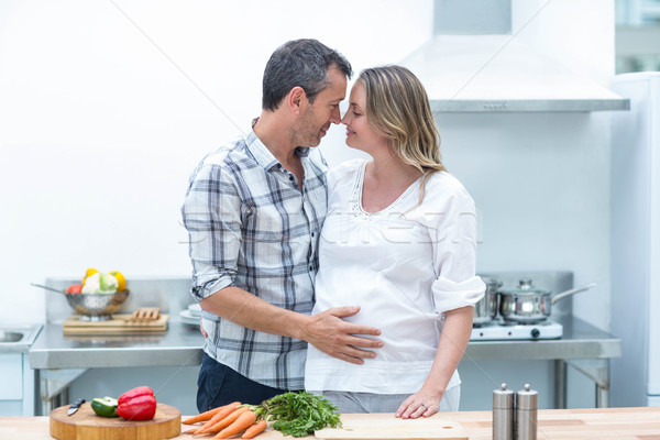 Man face to face with pregnant woman Stock photo © wavebreak_media