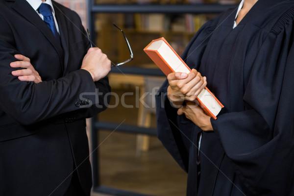 Advocaat recht boek kantoor man Stockfoto © wavebreak_media