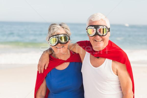 Senior couple wearing superman costume Stock photo © wavebreak_media