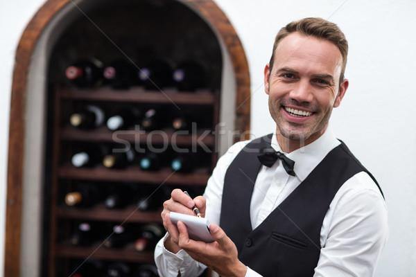 Garçom ordem comercial cozinha homem Foto stock © wavebreak_media