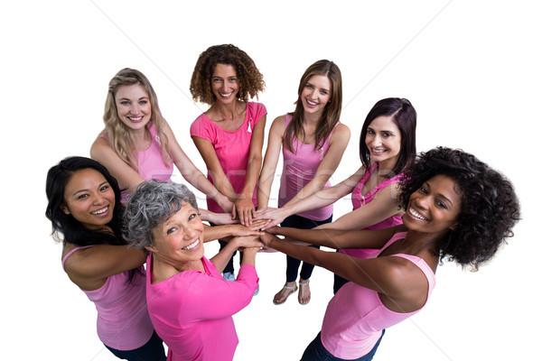 женщины розовый круга Рак молочной железы белый осведомленность Сток-фото © wavebreak_media