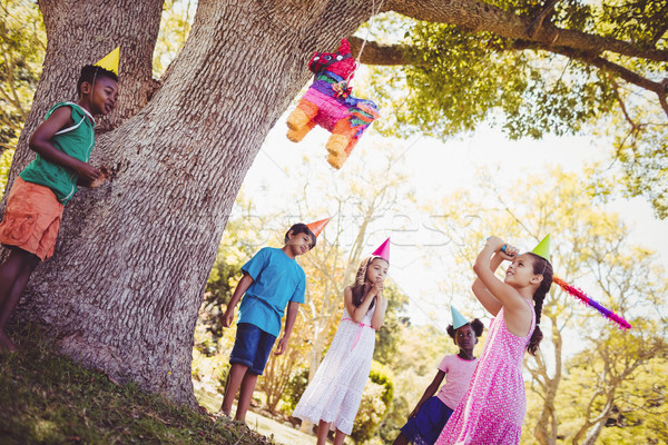 Little girl is going to broke the pinata for her birthday Stock photo © wavebreak_media