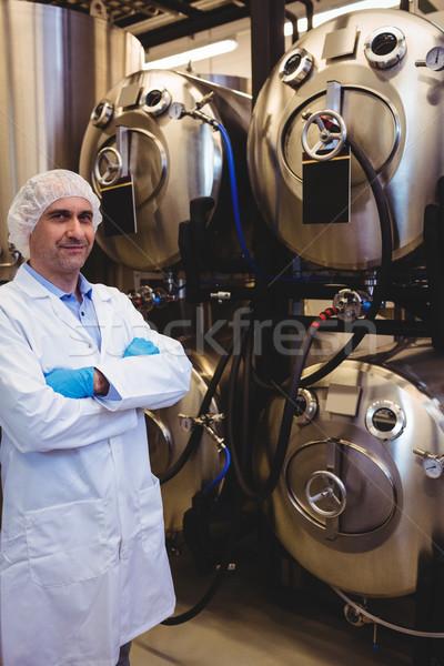 Producent stałego browar portret przechowywania człowiek Zdjęcia stock © wavebreak_media