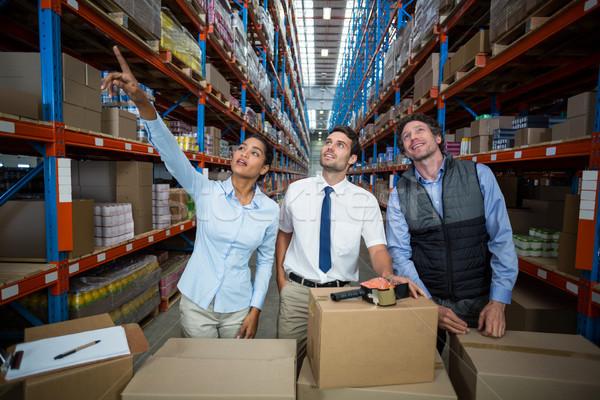 Warehouse team preparing a shipment Stock photo © wavebreak_media