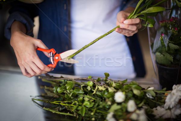 Kadın çiçekçi alışveriş iş çiçek Stok fotoğraf © wavebreak_media