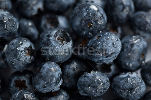 Close-up of fresh blueberries with water drops Stock photo © wavebreak_media